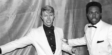 David Bowie with Nile Rodgers of Chic at the Frankie Crocker Awards at the Savoy in New York, on 21st January 21 1983. (Photo by Ebet Roberts/Redferns)